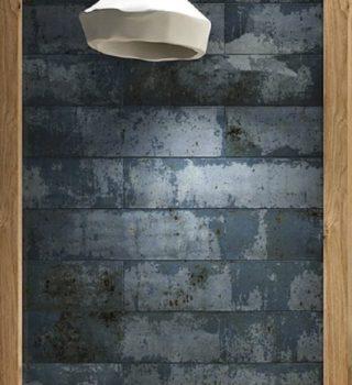 Wandtegel 10x40 cm blauw roest A90 voor keuken, toilet en badkamer