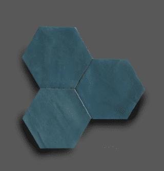 Wandtegel 13,9×16 cm Hexagon Donker Blauw A183 Is geschikt voor in de badkamer, de keuken of het toilet