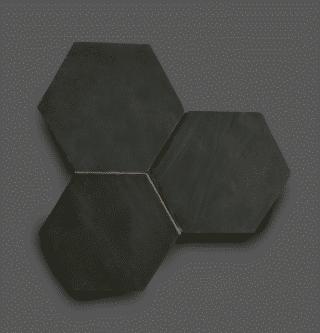 Wandtegel 13,9×16 cm Hexagon Donker Grijs A182 Is geschikt voor in de badkamer, de keuken of het toilet