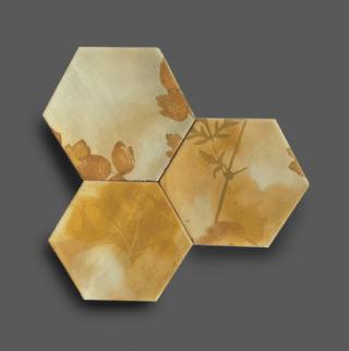 Wandtegel 13,9×16 cm Hexagon Ecoline Geel A188 Is geschikt voor in de badkamer, de keuken of het toilet