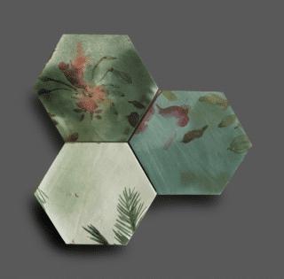 Wandtegel 13,9×16 cm Hexagon Ecoline Groen A189 Is geschikt voor in de badkamer, de keuken of het toilet