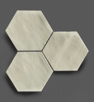 Wandtegel 13,9×16 cm Hexagon Gebroken wit A185 Is geschikt voor in de badkamer, de keuken of het toilet