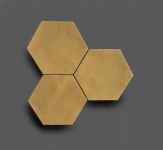 Wandtegel 13,9×16 cm Hexagon Geel A180 Is geschikt voor in de badkamer, de keuken of het toilet