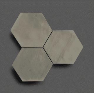Wandtegel 13,9×16 cm Hexagon Grijs A184 Is geschikt voor in de badkamer, de keuken of het toilet