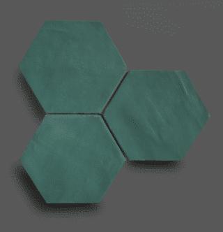 Wandtegel 13,9×16 cm Hexagon Groen A181 Is geschikt voor in de badkamer, de keuken of het toilet