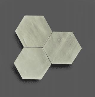 Wandtegel 13,9×16 cm Hexagon Pastel Groen A187 Is geschikt voor in de badkamer, de keuken of het toilet