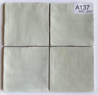 Wandtegel 13x13 cm Aqua A137 voor badkamer, keuken of toilet.