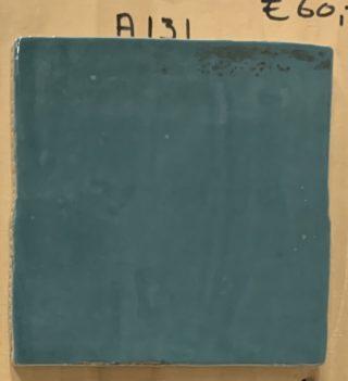 Wandtegel 13x13 cm turquoise A131 voor keuken, badkamer en toilet