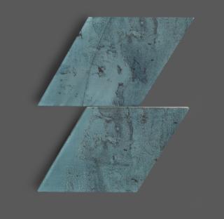 Wandtegel 15×25,9 cm Rombo Blauw A230 Is geschikt voor in de badkamer, de keuken of het toilet