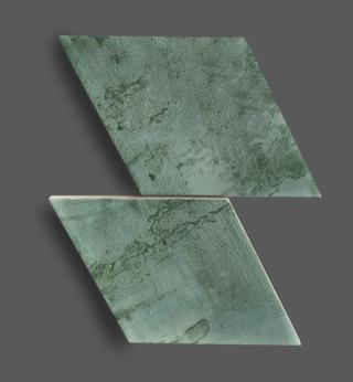 Wandtegel 15×25,9 cm Rombo Groen A228 Is geschikt voor in de badkamer, de keuken of het toilet