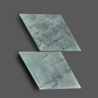 Wandtegel 15×25,9 cm Rombo Licht Blauw A236 Is geschikt voor in de badkamer, de keuken of het toilet