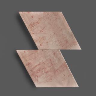 Wandtegel 15×25,9 cm Rombo Roze A234 Is geschikt voor in de badkamer, de keuken of het toilet