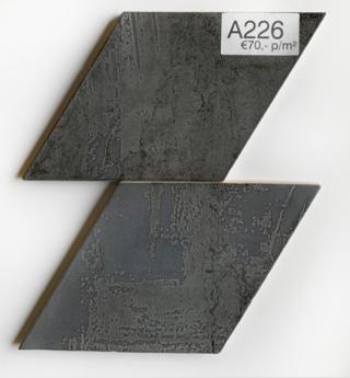Wandtegel 15x25,9 cm Rombo Antraciet A226 voor badkamer, keuken of toilet.
