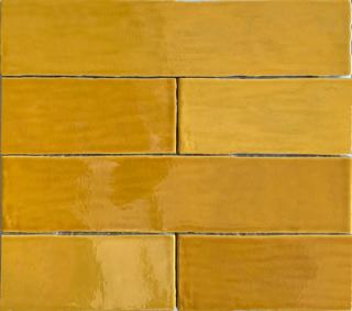 Wandtegel 7.5×30 cm geel A161 voor badkamer, keuken of toilet
