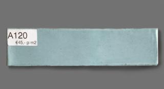 Wandtegel 7.5×30 cm pastel blauw A120 voor badkamer, keuken of toilet