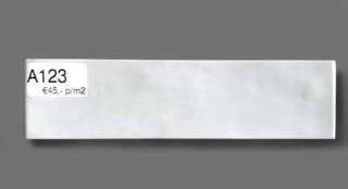 Wandtegel 7.5×30 cm wit A123 voor badkamer, keuken of toilet