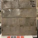 Wandtegel 7.5x30 cm grijs roest A175 voor keuken, badkamer en toilet