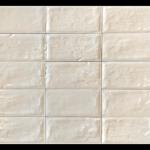 Wandtegel 7,5×15 cm Glans Creme restpartij (nog 42,5 m² voorraad)