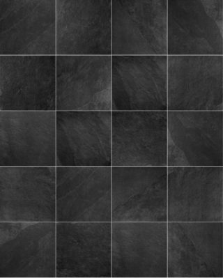 Vloertegel 90x90 cm Leisteen look Ardesia Black X3
