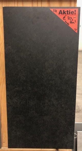 vloertegel 30x60 cm betonlook antraciet zwart