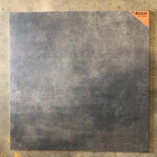 Vloertegel 80x80 cm betonlook Antraciet Donker E1 is geschikt voor vloerverwarming